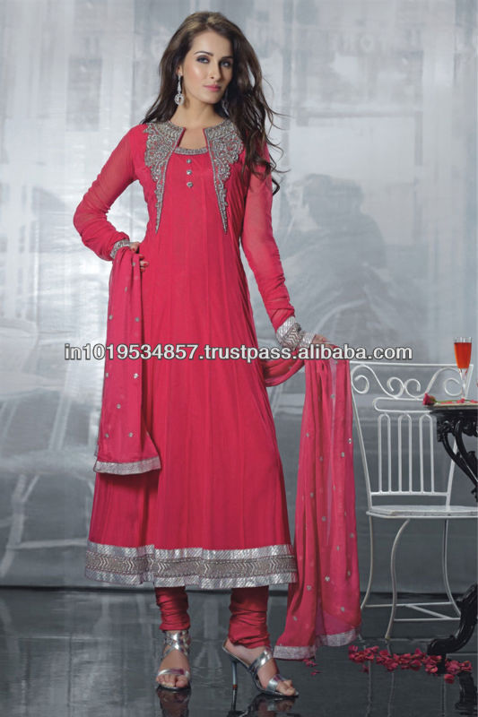 Suparb long designer anarkali robe de costumes salwar costumes rouge. inde. ethinic Fabrication Les fabricants, fournisseurs, exportateurs, grossistes