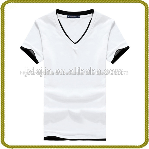 2014 new fashion v-neck t-shirts men's, cheap white t shirt, 1 dollar t shirts Fabrication Les fabricants, fournisseurs, exportateurs, grossistes