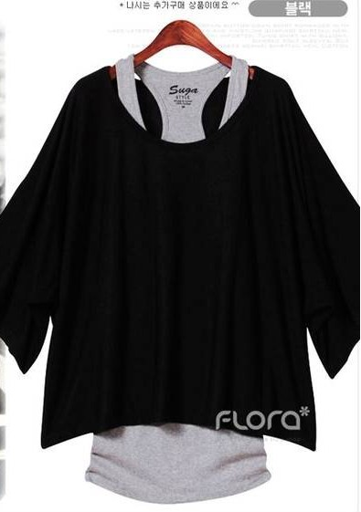 Fashion Loose Casual Short Sleeve T-Shirts Women's Batwing Sleeve Tops ( Tank + T shirt) Fabrication Les fabricants, fournisseurs, exportateurs, grossistes