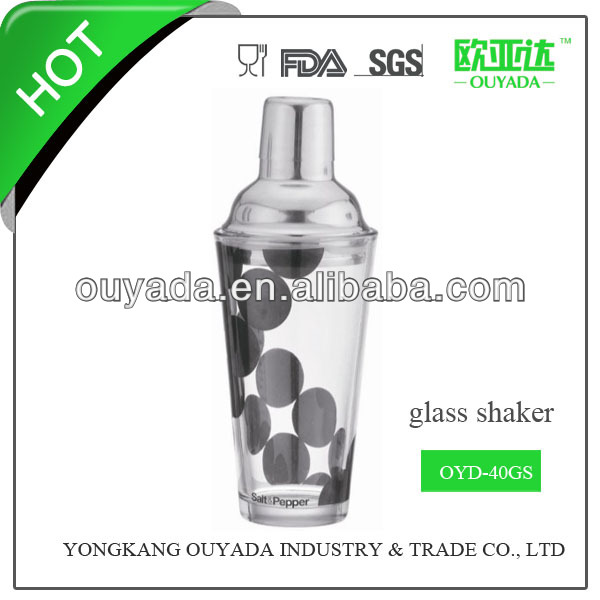 400ml inox et verre shaker oyd-40gs Fabrication Les fabricants, fournisseurs, exportateurs, grossistes