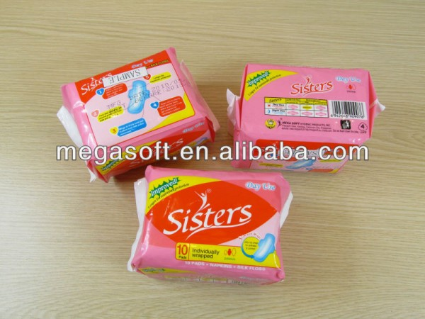 SISTERS 245 Sanitary Napkins from MegaSoft Fabrication Les fabricants, fournisseurs, exportateurs, grossistes