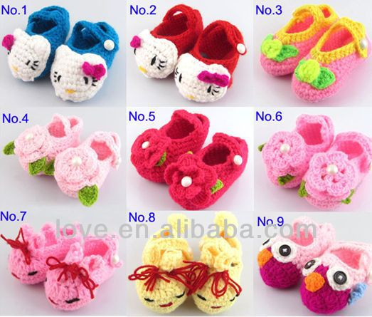 Wholesale Handmade kitty CAT Knitted Crochet baby Booties Fabrication Les fabricants, fournisseurs, exportateurs, grossistes
