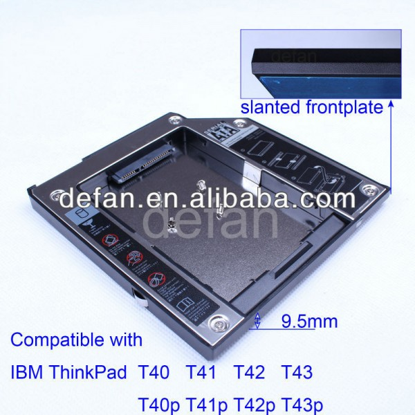 9.5mm 2.5' 2nd caddy disque dur pour ibm thinkpad t40 optibay, t41, t42, t43 Fabrication Les fabricants, fournisseurs, exportateurs, grossistes