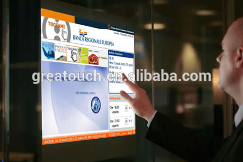42'' Interactive Multi Touch Foil On Shop Window Fabrication Les fabricants, fournisseurs, exportateurs, grossistes