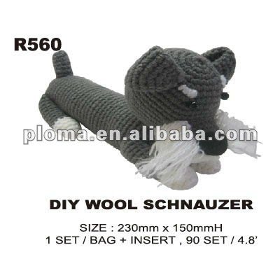 Knitting dog artisanat ( R560 ) bricolage laine SCHNAUZER Fabrication Les fabricants, fournisseurs, exportateurs, grossistes