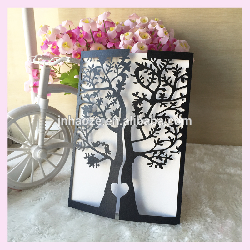 Nature Arbre conception 2016 cartes d'invitation de mariage laser cut coutume impression Simple  Fabrication Les fabricants, fournisseurs, exportateurs, grossistes