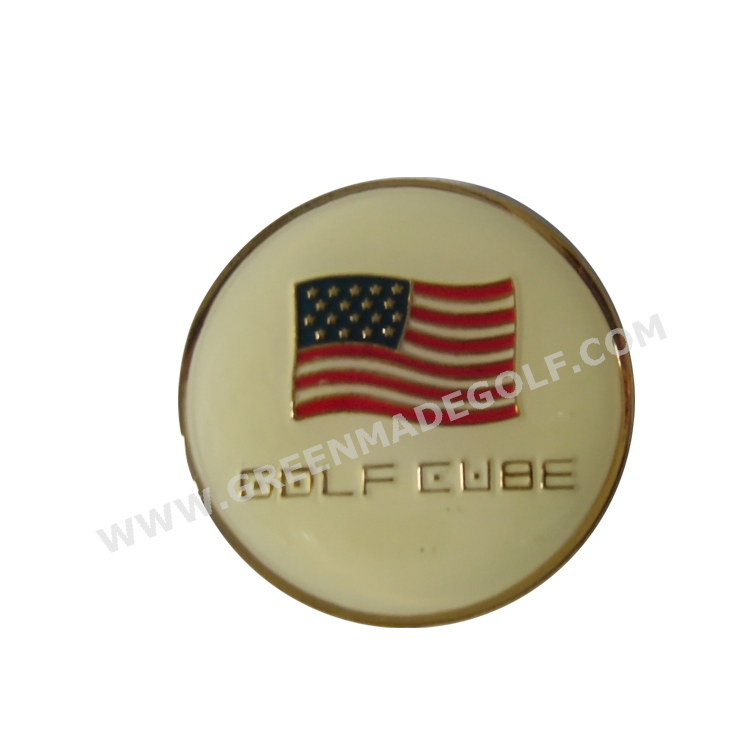 Forme ronde métal golf ball marker Fabrication Les fabricants, fournisseurs, exportateurs, grossistes