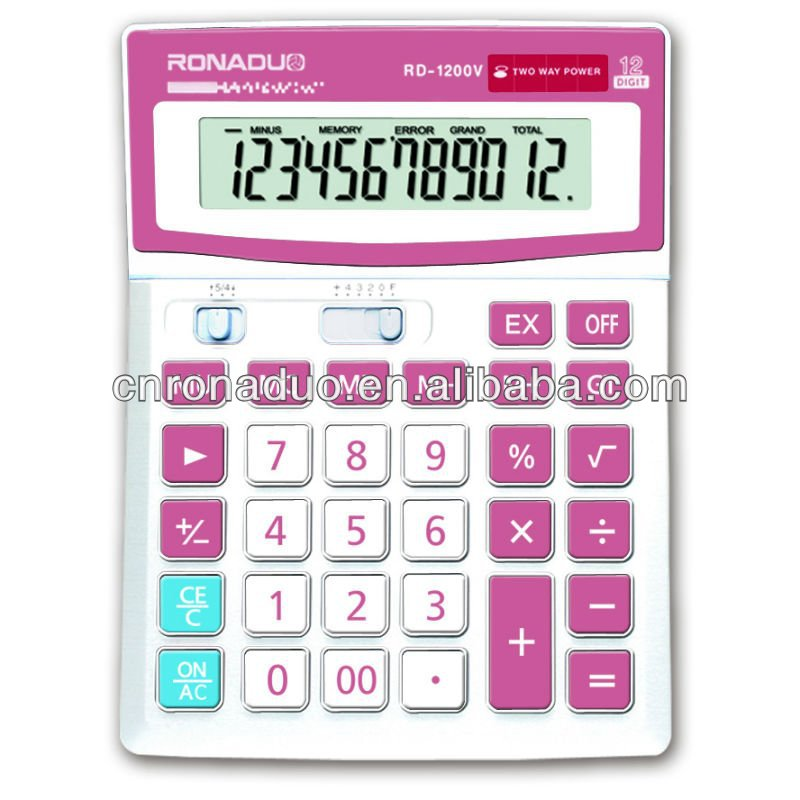 Grand écran dual power bureau bureau calculator12digits solaire calculadoras Fabrication Les fabricants, fournisseurs, exportateurs, grossistes