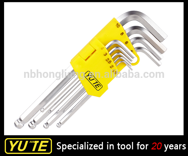 9 pcs 40cr - v Nickel plaqué Long Arm bille Hex Key set / Cr - v Hex clé Fabrication Les fabricants, fournisseurs, exportateurs, grossistes