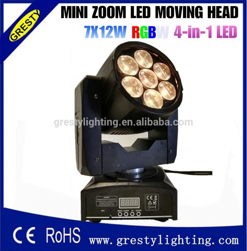 Disco light 7x12 w RGBW zoom led moving head wash led mini moving head zoom Fabrication Les fabricants, fournisseurs, exportateurs, grossistes
