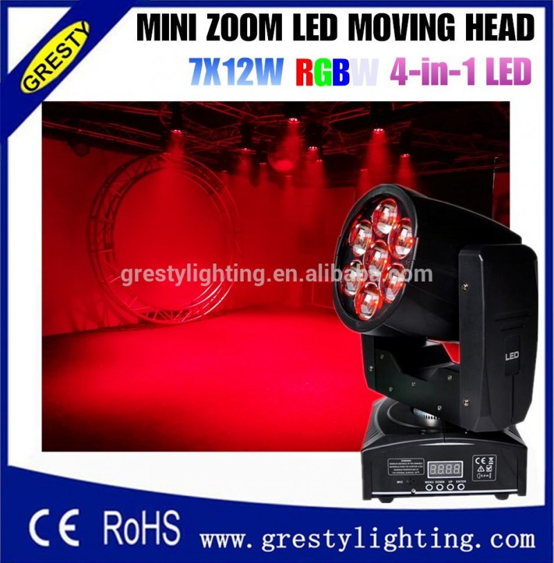 Moving head light Mini abeille yeux 7x12 w contrôle led moving head light Fabrication Les fabricants, fournisseurs, exportateurs, grossistes